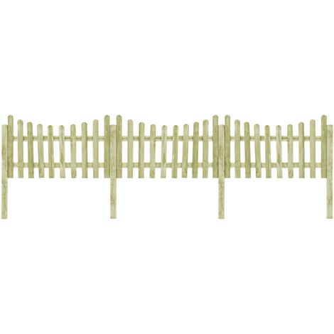Hommoo Garden Fence with 4 Posts FSC Impregnated Pinewood 510x100 cm VD29322