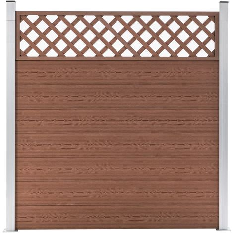 Hommoo Garden Fence WPC 180x185 cm Brown