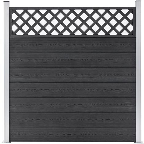 Hommoo Garden Fence WPC 180x185 cm Grey VD39962