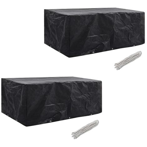 Hommoo Garden Furniture Covers 2pcs 8 Person Poly Rattan 229x113cm