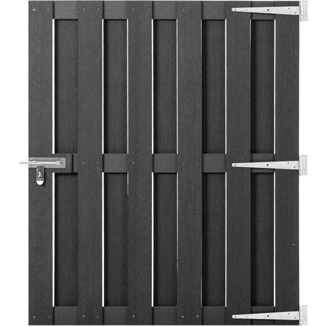 Hommoo Garden Gate WPC 100x120 cm Grey