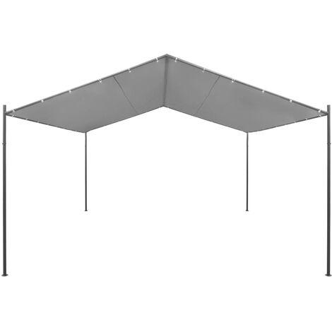 Hommoo Garden Gazebo Steel 400x400x260 cm Anthracite QAH28956