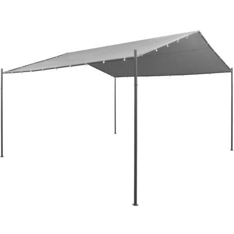 Hommoo Garden Gazebo Steel 400x400x260 cm Anthracite VD28956