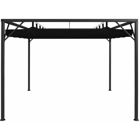 Hommoo Garden Gazebo with Retractable Roof Canopy 3x3 m Anthracite QAH46222