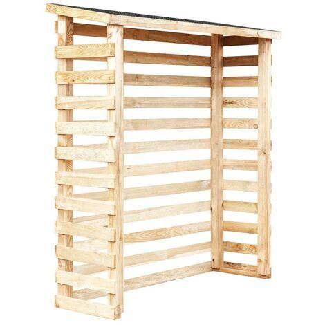 Hommoo Garden Log Shed 160x50x170 cm Pinewood