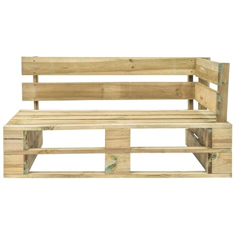 Hommoo Garden Pallet Corner Bench Wood QAH28883
