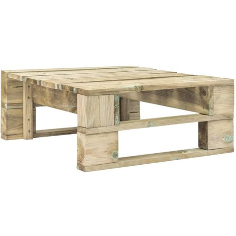 Hommoo Garden Pallet Ottoman FSC Wood Green VD28881