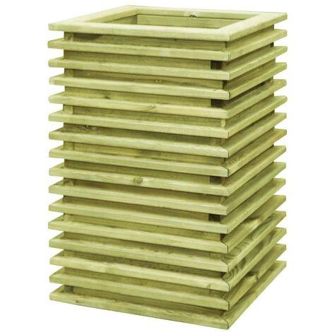 Hommoo Garden Planter 50x50x80 cm Impregnated Pinewood VD46872