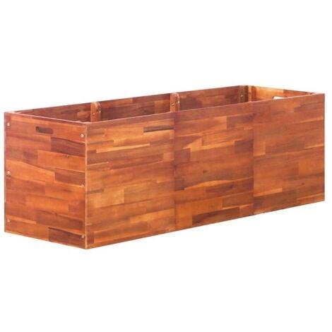 Hommoo Garden Planter Acacia Wood 150x50x50 cm VD28251