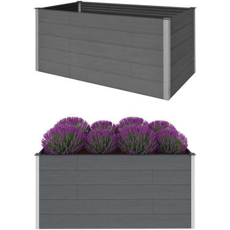 Hommoo Garden Planter Grey 200x100x91 cm WPC