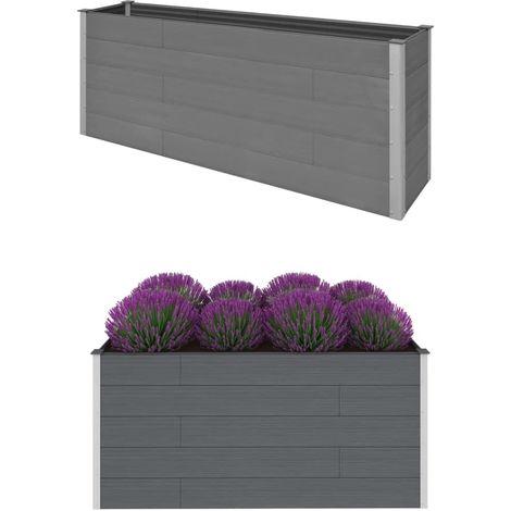Hommoo Garden Planter Grey 200x50x91 cm WPC