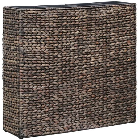 """main image of """"Hommoo Garden Planter with 4 Pots Water Hyacinth Brown VD29705"""""""