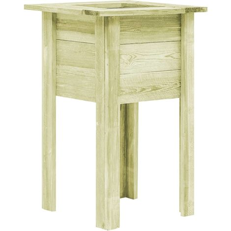 Hommoo Garden Planter with Feet 50x50x80 cm FSC Impregnated Sawn Wood VD29333
