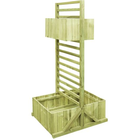 Hommoo Garden Planter with Trellis Impregnated Pinewood VD46883