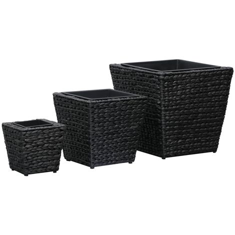 Hommoo Garden Planters 3 pcs Water Hyacinth Black