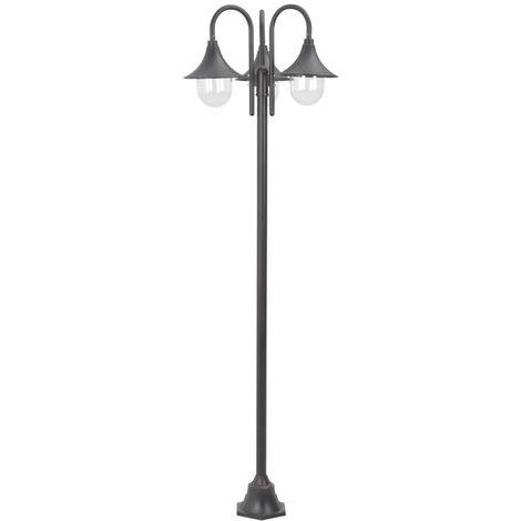 Hommoo Garden Post Light E27 220 cm Aluminium 3-Lantern Bronze QAH28414