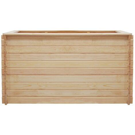 Hommoo Garden Raised Bed 150x50x80 cm Pinewood 19 mm QAH27633