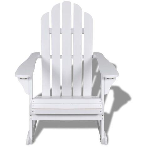 Hommoo Garden Rocking Chair Wood White QAH26273
