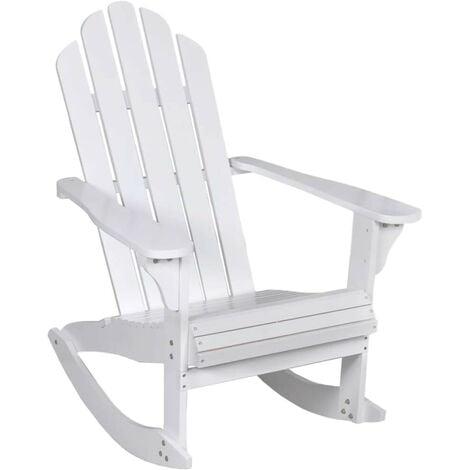 Hommoo Garden Rocking Chair Wood White VD26273