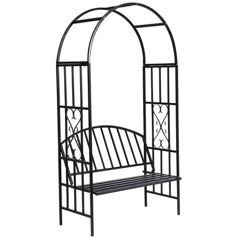 Hommoo Garden Rose Arch with Bench