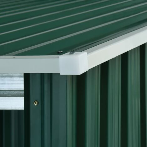 Hommoo Garden Shed with Sliding Doors Green 329.5x131x178 cm Steel QAH05879
