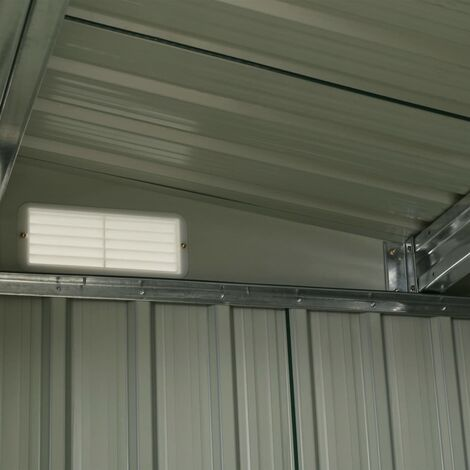 Hommoo Garden Shed with Sliding Doors Green 386x131x178 cm Steel QAH05887