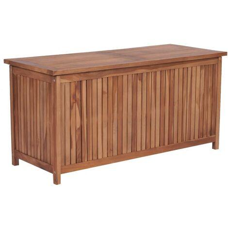 Hommoo Garden Storage Box 120x50x58 cm Solid Teak Wood