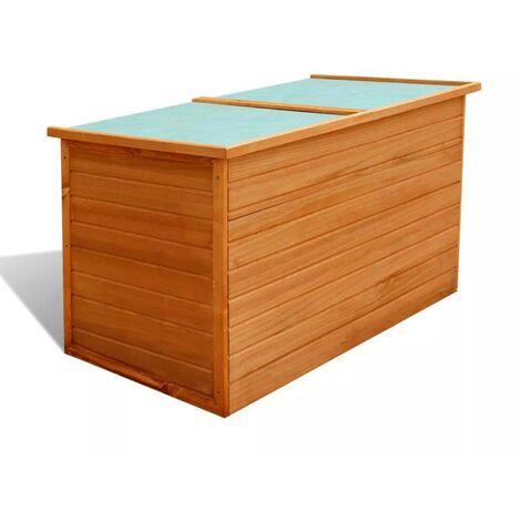 Hommoo Garden Storage Box 126x72x72 cm Wood