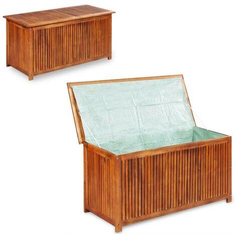 Hommoo Garden Storage Box 150x50x58 cm Solid Acacia Wood VD28232