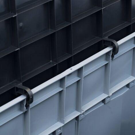 Hommoo Garden Storage Box 320 L Grey Black QAH29814