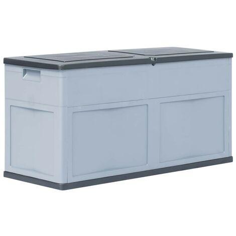 Hommoo Garden Storage Box 320 L Grey Black VD29814