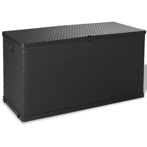 "main image of ""Hommoo Garden Storage Box Anthracite 120x56x63 cm VD27998"""