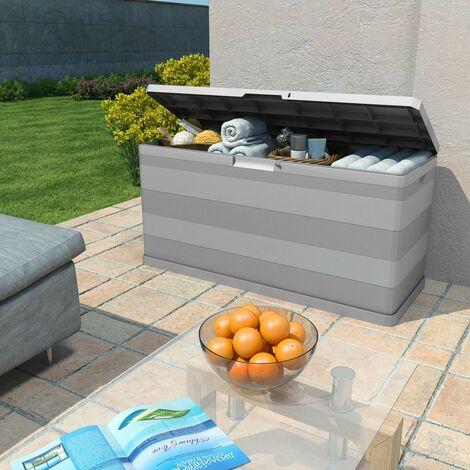 Hommoo Garden Storage Box Grey 117x45x56 cm QAH27996