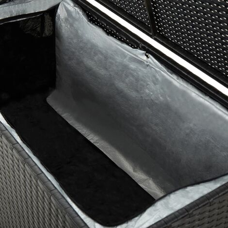 Hommoo Garden Storage Box Poly Rattan 100x50x50 cm Black QAH30005