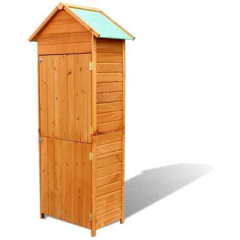 Hommoo Garden Storage Cabinet Brown 79x49x190 cm VD26621