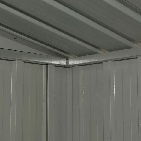 Hommoo Garden Storage Shed Anthracite Steel 204x132x186 cm QAH30185