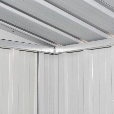Hommoo Garden Storage Shed Brown 204x132x186 cm Steel QAH30186
