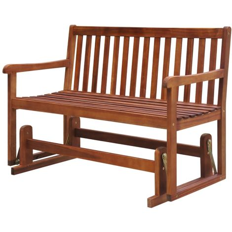 Hommoo Garden Swing Bench 125 cm Solid Acacia Wood