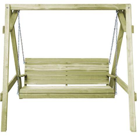 Hommoo Garden Swing Bench Impregnated Pinewood 205x150x157 cm QAH29455
