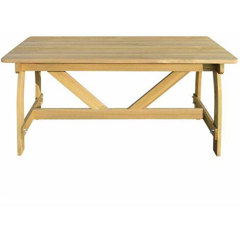 Hommoo Garden Table 150x74x75 cm Impregnated Pinewood QAH26770