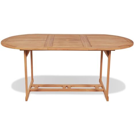 Hommoo Garden Table 180x90x75 cm Solid Teak Wood QAH27467