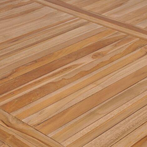 Hommoo Garden Table 200x100x77 cm Solid Teak Wood QAH29164