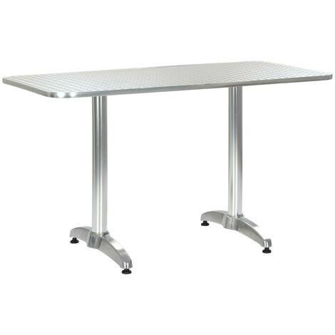 Hommoo Garden Table Silver 120x60x70 cm Aluminium