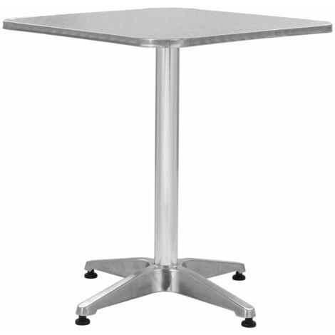 Hommoo Garden Table Silver 60x60x70 cm Aluminium