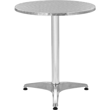 Hommoo Garden Table Silver 60x70 cm Aluminium