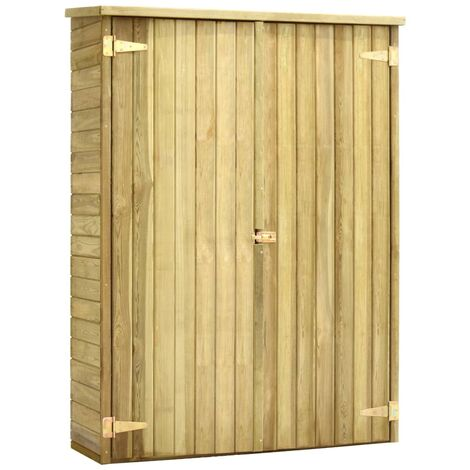 Hommoo Garden Tool Shed 123x50x171 cm Impregnated Pinewood QAH29997