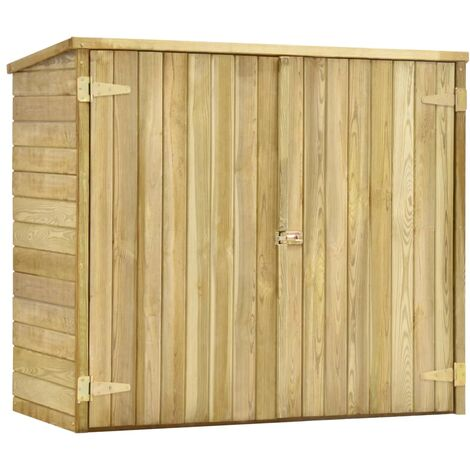Hommoo Garden Tool Shed 135x60x123 cm Impregnated Pinewood QAH29995
