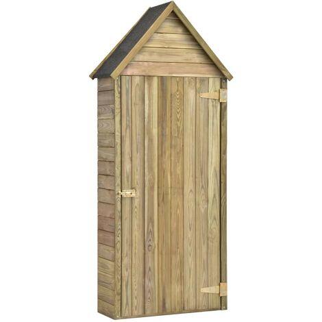Hommoo Garden Tool Shed with Door 77x37x178 cm Impregnated Pinewood