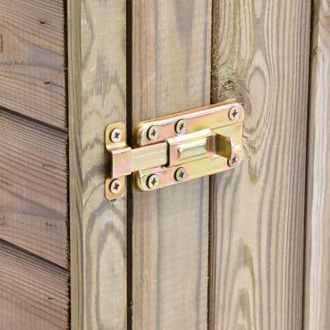 Hommoo Garden Tool Shed with Door 77x37x178 cm Impregnated Pinewood QAH29994