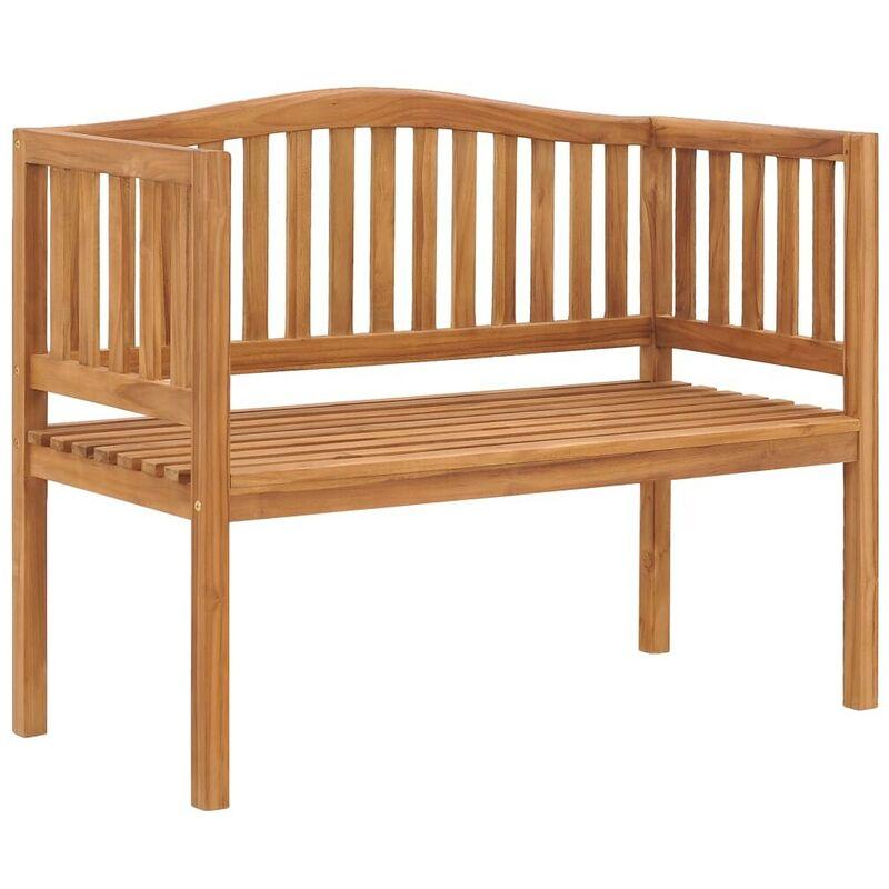 Gartenbank 120 cm Massivholz Teak VD46998 - Hommoo